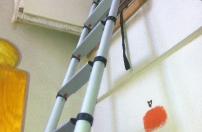 Completed loft ladder