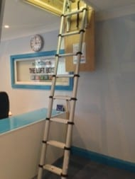 Image of telescopic loft ladders