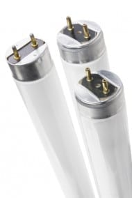 Fluorescent Tubes on White Background Loft Lighting