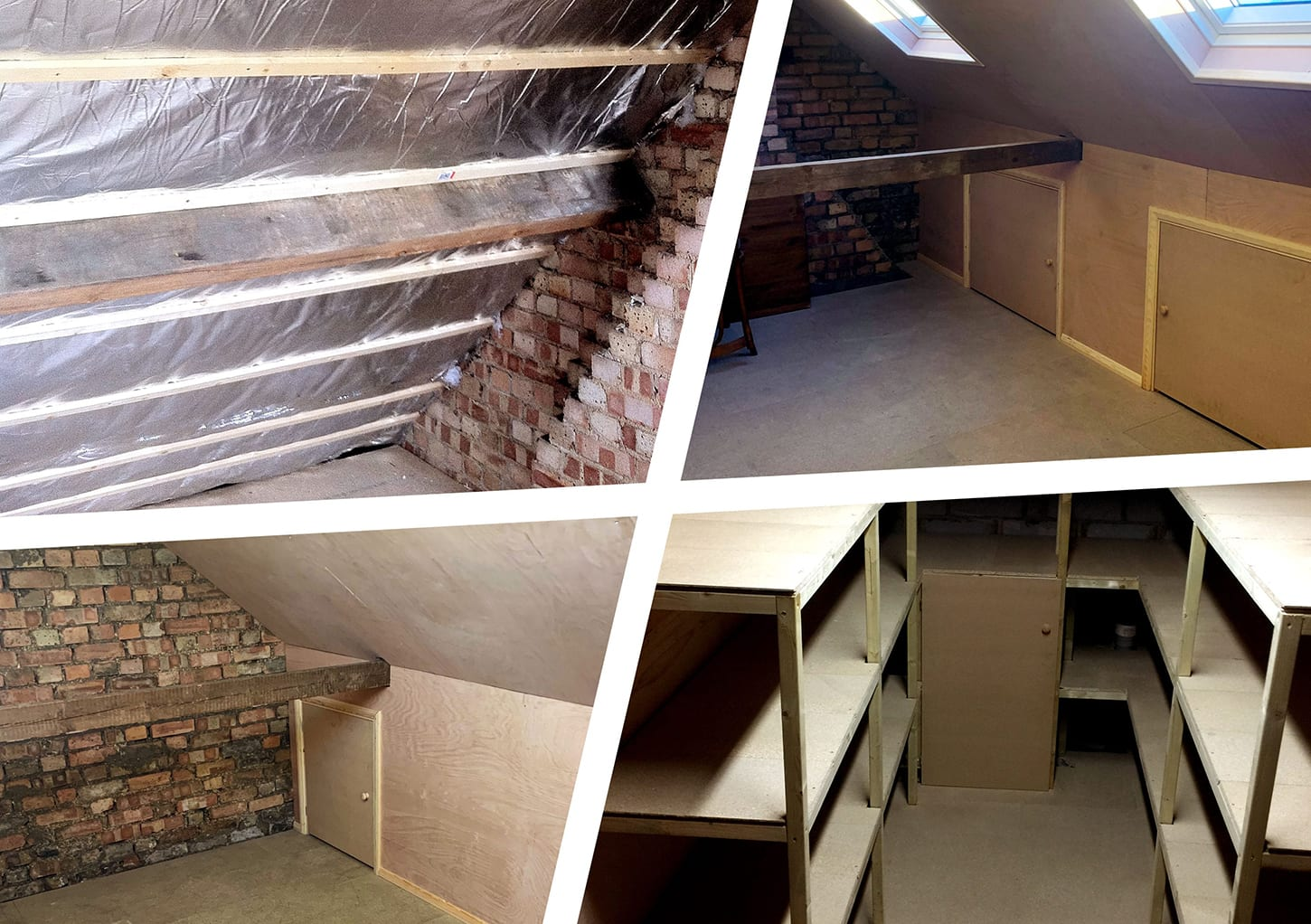 Different types of loft roof finishes and storage solutions